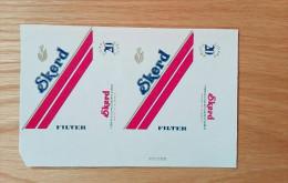Old Empty Flattened Cigarette Pack SKERD - Albania 1980´s - Schnupftabakdosen (leer)