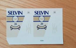 Old Empty Flattened Cigarette Pack SELVIN - Albania 1980´s - Schnupftabakdosen (leer)