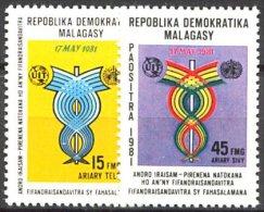 Madagascar, n� 650 � n� 651** Y et T
