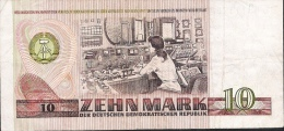 GERMANY DEMOCRATIC REPUBLIC P28c  10  MARK  1971 Letter DL   XF - [ 6] 1949-1990 : GDR - German Dem. Rep.