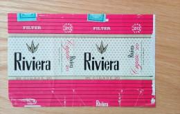 Old Empty Flattened Cigarette Pack RIVIERA - Albania 1980´s - Schnupftabakdosen (leer)
