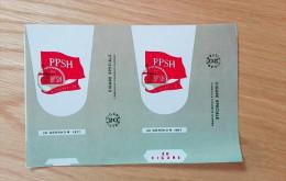 Old Empty Flattened Commemorative Cigarette Pack KONGRESI I 8 BPSH - Albania 1970´s - Schnupftabakdosen (leer)