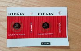 Old Empty Flattened Cigarette Pack KRUJA - Albania 1980´s - Schnupftabakdosen (leer)