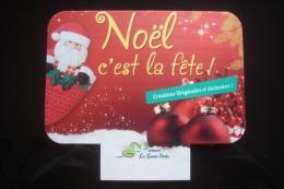 """Plaque Publicitaire """"Editions La Souris Verte"""" : Noêl C'est La Fête, Créations Originales Et Exclusives, Père Noêl... - Advertising (Porcelain) Signs"""
