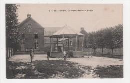 59 - Bellignies - La Place Mairie Et Ecole - France