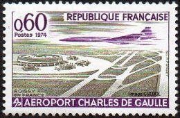 France Transport Avion N° 1787 ** Grandes Réalisations Françaises - Aéroport Charles De Gaulle - Concorde - Avions