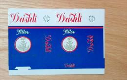 Old Empty Flattened Cigarette Pack DRISHTI - Albania 1980´s - Schnupftabakdosen (leer)