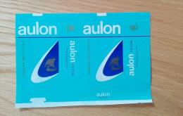 Old Empty Flattened Cigarette Pack AULON - Albania 1980´s - Schnupftabakdosen (leer)