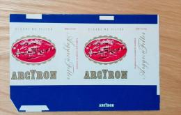 Old Empty Flattened Cigarette Pack ARGYRON - Albania 1980´s - Schnupftabakdosen (leer)
