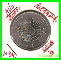 ALEMANIA  - BRD  - MONEDA DE 10 DM  PLATA  S/C  AÑO 2000-D  PROOF - [10] Conmemorativas