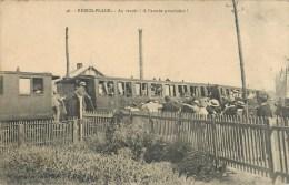 BERCK TRAIN CHEMIN DE FER VOYAGEURS 62 - Berck