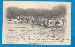 Inondation D'AIN-SEFRA    L�gionnaires se rendant sur la ligne  du chemin de Fer pour la r�parer  Anim�es �crite en 1906
