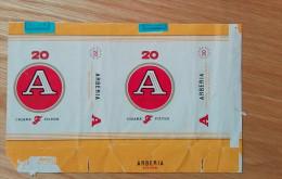 Old Empty Flattened Cigarette Pack ARBERIA - Albania 1970´s - Schnupftabakdosen (leer)