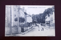 1 CP Champigneulles Avenue De La Gare, Animée, Brasserie - Autres Communes