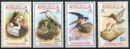 1980 Anguilla Natale Christmas Noel Uccelli Birds Oiseaux Set MNH** B66 - Anguilla (1968-...)