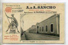 ESPAGNE EL PUERTO DE SANTA MARIA Vins Fins A-A SANCHO  D'espagne Et Portugal  Chai VALDES Vue Exterieure   /D03-2016 - Unclassified