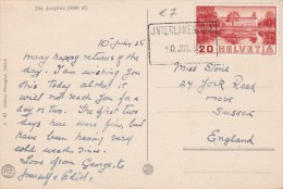 SUISSE  1938 CARTE POSTALE DE INTERLAKEN - Svizzera