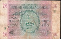UNITED KINGDOM PM3  2 SHILLINGS 6 PENCE  Letter B   ND FINE - Autorità Militare Britannica