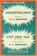 """Partition """" Concertino Valse - C'est Pour Elle """" Tangos De A J Dervaux - 8 Pages - Musique & Instruments"""
