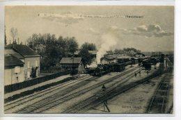 21 MARCILLY Sur TILLE  Train En Gare Voies Chemins De Fer  Aiguillages 1915 écrite    /D03-2016 - France
