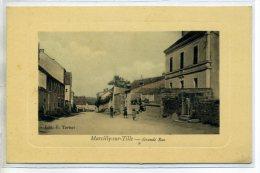 21 MARCILLY Sur TILLE  Grande Rue  Joie Carte Couleur Animée 1910 Edit E Tartari     /D03-2016 - France