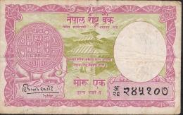 NEPAL  P8   1  MOHRU  1956 Signature 1  AVF - Nepal