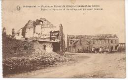 Houthulst -- Ruines.--Entrée Du Village Et Couvent Des Soeurs. - Houthulst