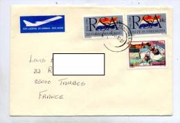 Lettre Cachet Pennington Sur Don Du Sang Drapeau - Afrique Du Sud (1961-...)