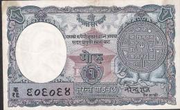 NEPAL  P1b   1  RUPEE    1953 Signature 3   VF - Nepal
