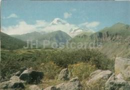 View At Kazbek Mountain - Georgian Military Road - Postal Stationery - 1971 - Georgia USSR - Unused - Géorgie