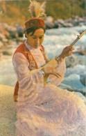 Kyrgys Melody - Musical Instrument - Woman In Folk Costume - Bishkek - Frunze - Kyrgystan USSR - Unused - Kirghizistan