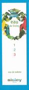 Cartes Parfumées Carte  EAU De  SISLEY   1 2 3 - Perfume Cards