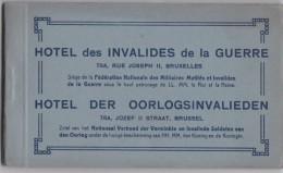 BRUXELLES-HOTEL DES INVALIDES DE LA GUERRE-RUE JOSEPH II-CARNET-COMPLET-12 CARTES-TOP-CONDITION-RARE-VOYEZ 14 SCANS  ! ! - Salute, Ospedali