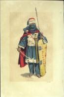 """Illustration Couleur Ancienne, De Eugène Mathieu - Touareg - Tirée D'un Ouvrage """"L'Algérie Contemporaine"""" - - Vieux Papiers"""