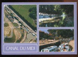 CPM Neuve 34 Le Canal Du Midi Multi Vues - Languedoc-Roussillon