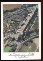 CPM Neuve 34 Le Canal Du Midi Vue Aérienne Des Neuf écluses - Languedoc-Roussillon