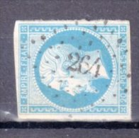 """PC 264 . """" BARRAUX  """" . (37) . N° 14 . TB . - Marcophily (detached Stamps)"""