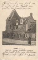 Guerre 14-18  PERNANT  Le Château Bombardé - War 1914-18
