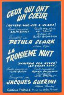 """Partition """" Ceux Qui Ont Un Coeur Et La Troisième Nuit """" Par Petula Clark - 30 Pages - Musique & Instruments"""