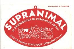 Buvard SUPRANIMAL Le Régénérateur De L´organisme Animal  C´est Un Produit PORVIGOR  De DOULLENS Dans La Somme - Agriculture