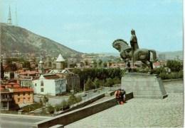 Statue Of King Vakhtang Gorgasali - Horse - Tbilisi - 1980 - Postal Stationery - AVIA - Georgia USSR - Unused - Géorgie