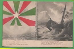 Timbro Croce Rossa Posto Soccorso Di Mestre Franchigia  1915   Tricolore - Venezia