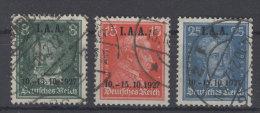 Deutsches Reich Michel No. 407 - 409 gestempelt used