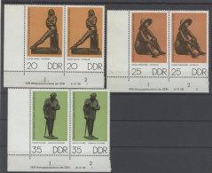Lot DDR Michel No. 2142 , 2143 , 2144 ** postfrisch DV Druckvermerk