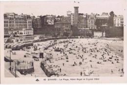 Cpa   DINARD LA PLAGE HOTEL ROYALE ET CRYSTAL HOTEL - Dinard