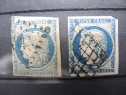 FRANCE - Lot De 2 X N° 4 - A Voir - P 16423 - 1849-1850 Ceres