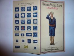 Plaquette avec les insignes de US navy offert par Waterman