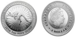 1 Oz Silver 999 °°° Kangaroo Australia 2016 New - Monete