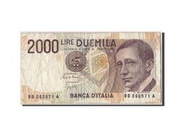 Italie, 2000 Lire, 1990, KM:115, Non Daté, TB - [ 2] 1946-… : République