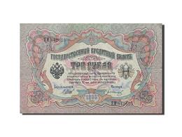 Russie, 3 Rubles, 1905, KM:9c, 1912-1917, TTB - Russie